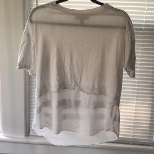 Michael Kors white layer look Top